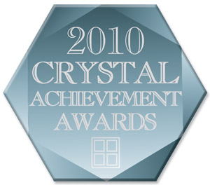 2006 and 2010 Crystal Achievement Award - Glass Magazine